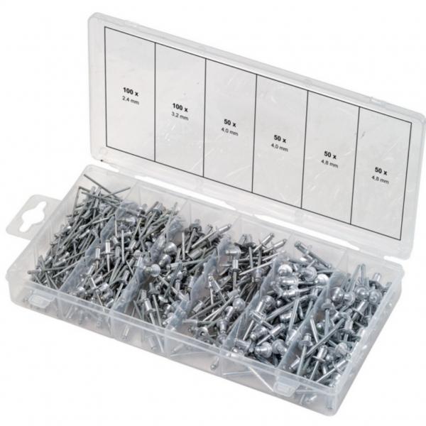 Assortimentsdoos blindklinknagels KS-Tools 400-delig