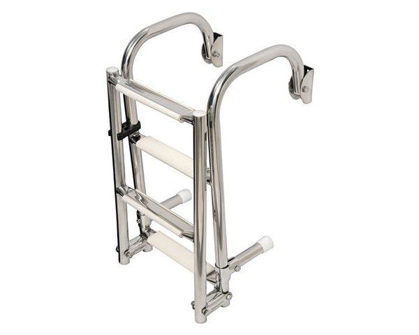 Ladder opklapbaar r.v.s. 5 treden