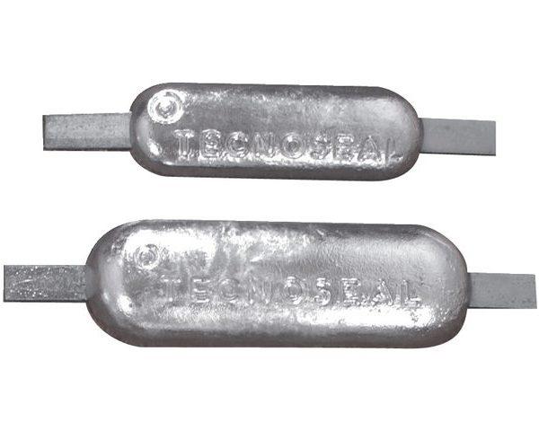 Zink anode 3,0 kg lengte strip (mm) 25 x