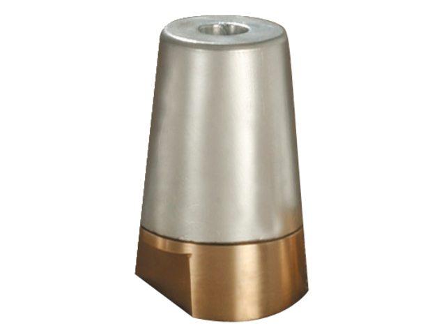 Zink anode met dopmoer kompleet 45 mm -