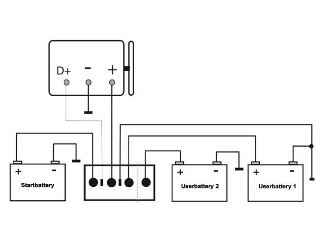 Diodebruggen / Laadstroomverdelers Schema
