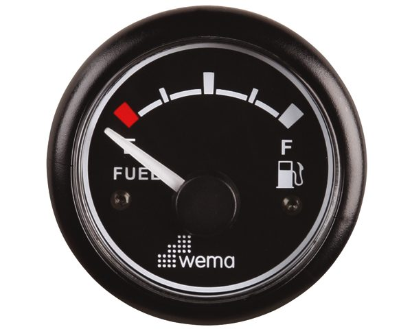 Wema Tankmeter Brandstof Zwart