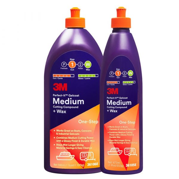 3M Perfect-it - Gelcoat Medium Cutting Compound en Wax