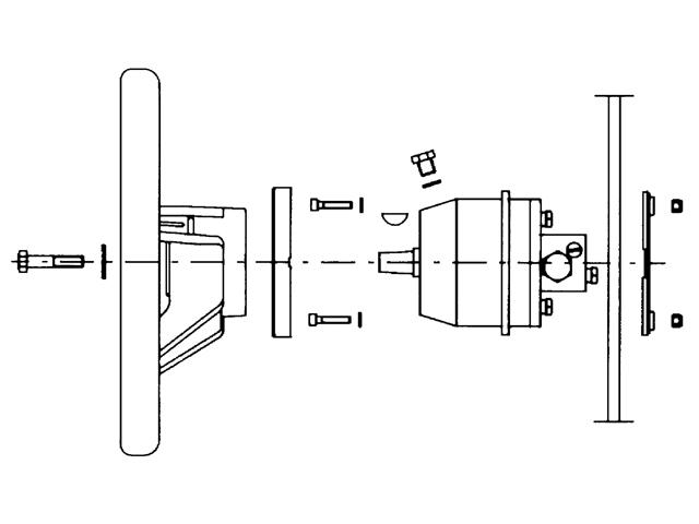 Hydraulische stuurpomp UP33 F Schema
