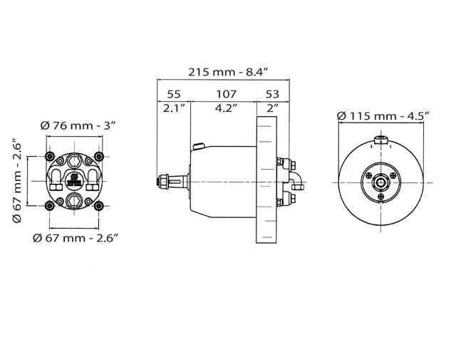Hydraulische stuurpomp UP33 F