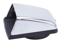 Ventilatieschelp RVS met kunststof onderplaat