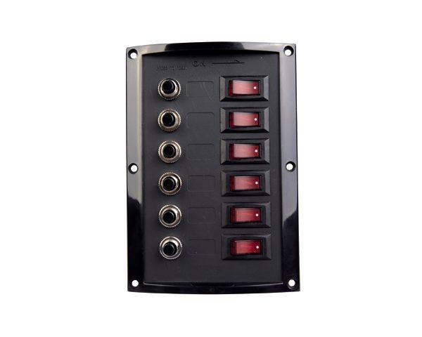 Schakelpaneel met circuitbreaker zwart