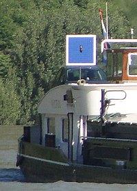 Blauw Bord verticale montage met pijp handbediend