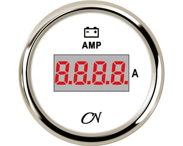 Amperemeter digitaal + shunt Wit Chroom
