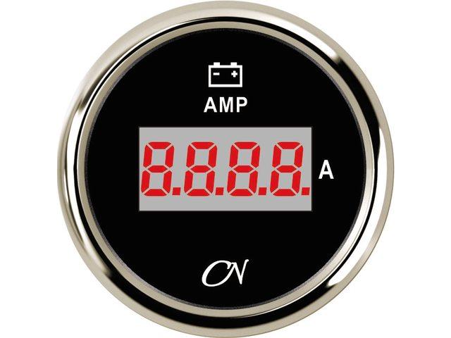 Amperemeter digitaal + shunt Zwart Chroom