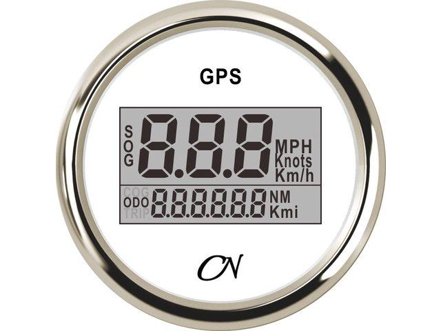 GPS snelheidsmeter Wit Chroom