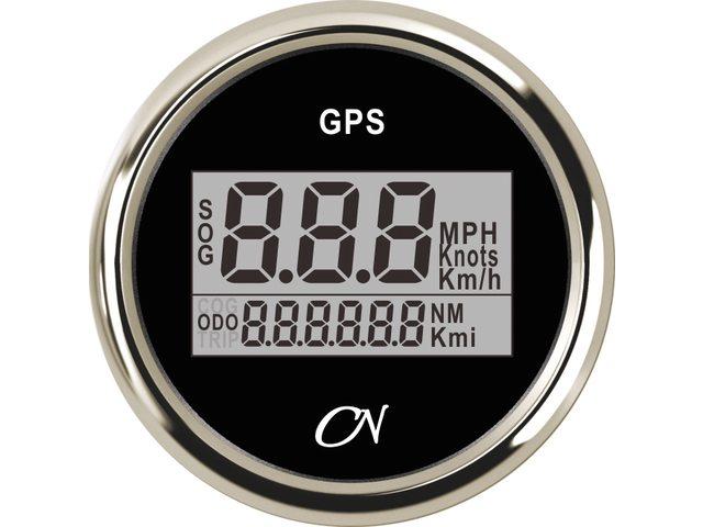 GPS snelheidsmeter Zwart Chroom