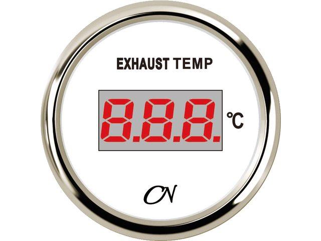 Uitlaattemperatuurmeter digitaal Wit Chroom