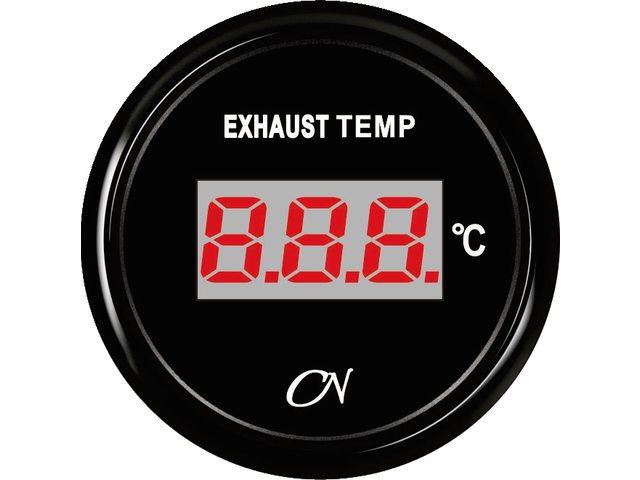 Uitlaattemperatuurmeter digitaal Zwart Zwart