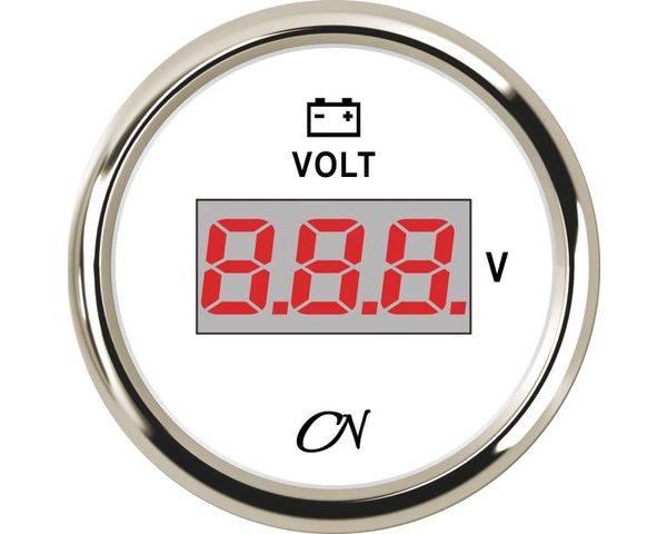 Voltmeter Digitaal Wit Chroom