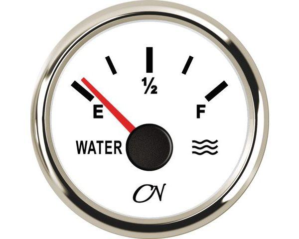 Watermeter Wit Chroom