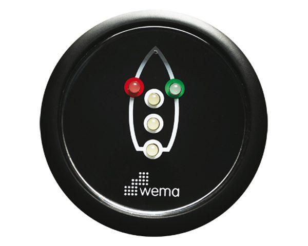 Controlepaneel navigatieverlichting zwart