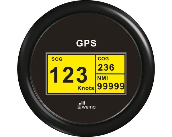 GPS speedometer digitaal zwart