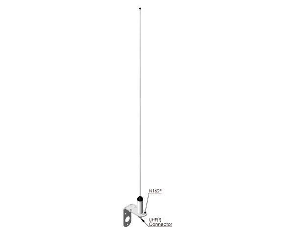 Celmar 0-1 VHF (AIS) antenne voor marifoon met kabelset 10 meter vv stekkers PL259/FME; FME en PL259