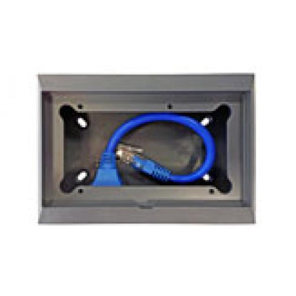 Wall mount enclosure for 65 x 120 mm GX-panels with 90 degr. RJ45 socket